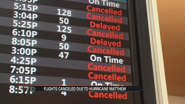 Hurricane Matthew expected to create backlog in airline travel
