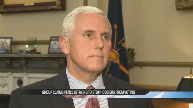 Voter registration group calls out Pence