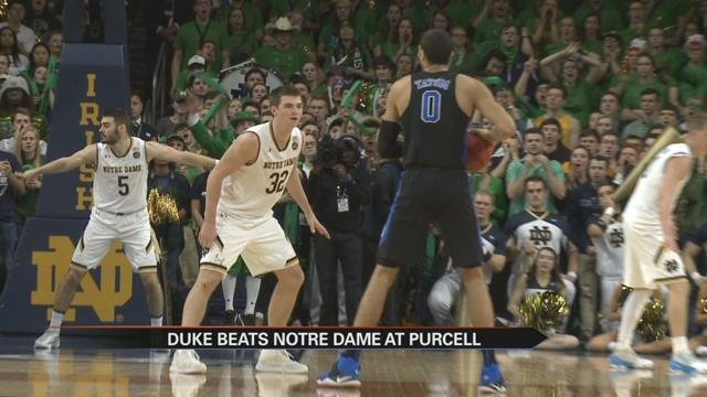 Notre Dame Basketball Drops 3rd in Row, Loses to Duke: The Highlights