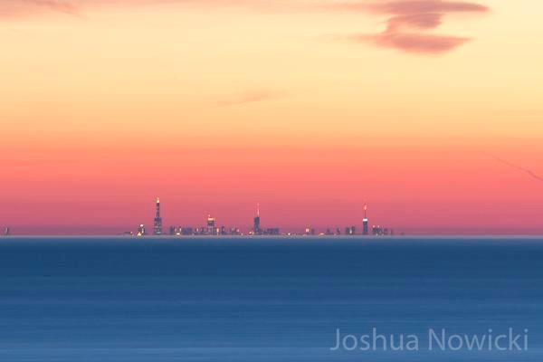Mirage of the Chicago Skyline from Grand Mere State Park